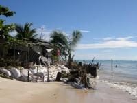 Tarawa house at waters edge and battling erosion
