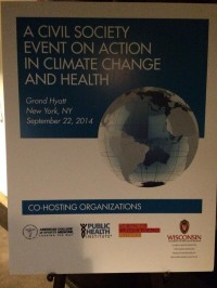 Civil Society Event on Action in Climate Change and Health