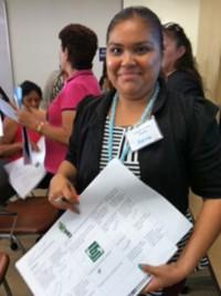 community health worker at Environmental Health Coalition training